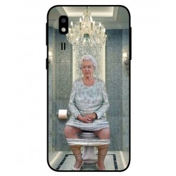 Durable Queen Elizabeth On The Toilet Cover For Samsung Galaxy A2 Core