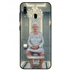 Durable Queen Elizabeth On The Toilet Cover For Samsung Galaxy A20