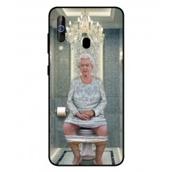 Durable Queen Elizabeth On The Toilet Cover For Samsung Galaxy A60