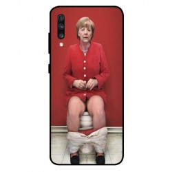 Durable Angela Merkel On The Toilet Cover For Samsung Galaxy A70