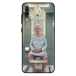 Durable Queen Elizabeth On The Toilet Cover For Samsung Galaxy A70