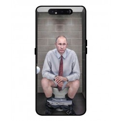 Durable Vladimir Putin On The Toilet Cover For Samsung Galaxy A80
