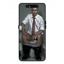 Durable Obama On The Toilet Cover For Samsung Galaxy A80