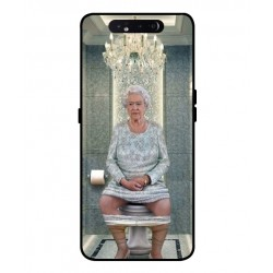 Durable Queen Elizabeth On The Toilet Cover For Samsung Galaxy A80