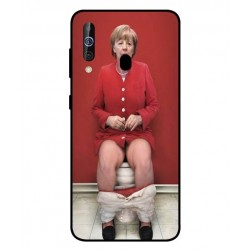 Durable Angela Merkel On The Toilet Cover For Samsung Galaxy M40