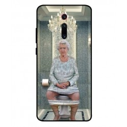 Durable Queen Elizabeth On The Toilet Cover For Xiaomi Redmi K20