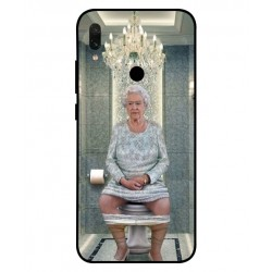 Durable Queen Elizabeth On The Toilet Cover For Xiaomi Redmi Note 7S