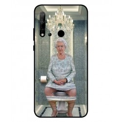 Durable Queen Elizabeth On The Toilet Cover For Huawei P20 Lite 2019