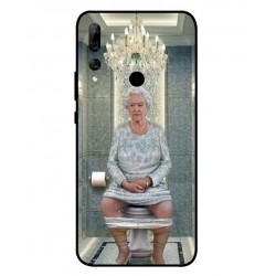 Durable Queen Elizabeth On The Toilet Cover For Huawei Y9 Prime 2019