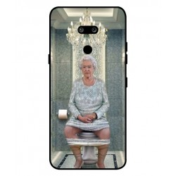 Durable Queen Elizabeth On The Toilet Cover For LG G8 ThinQ