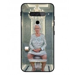Durable Queen Elizabeth On The Toilet Cover For LG G8S ThinQ
