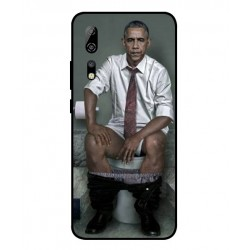 Durable Obama On The Toilet Cover For ZTE Axon 10 Pro