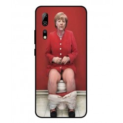Durable Angela Merkel On The Toilet Cover For ZTE Axon 10 Pro