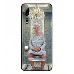 Durable Queen Elizabeth On The Toilet Cover For ZTE Axon 10 Pro