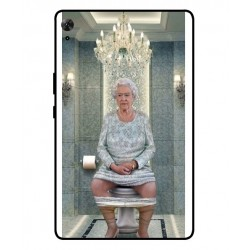 Durable Queen Elizabeth On The Toilet Cover For Huawei MediaPad M6 8.4