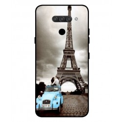 Durable Paris Eiffel Tower Cover For LG Q60