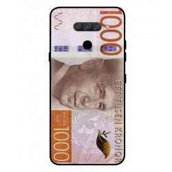 Durable 1000Kr Sweden Note Cover For LG Q60