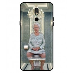 Durable Queen Elizabeth On The Toilet Cover For LG Stylo 5