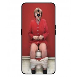 Durable Angela Merkel On The Toilet Cover For Oppo Reno Z
