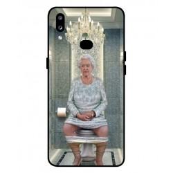 Durable Queen Elizabeth On The Toilet Cover For Samsung Galaxy A10s