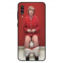 Durable Angela Merkel On The Toilet Cover For Samsung Galaxy A30s
