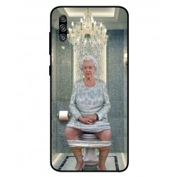 Durable Queen Elizabeth On The Toilet Cover For Samsung Galaxy A30s