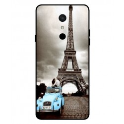 Durable Paris Eiffel Tower Cover For LG Q9