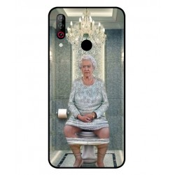 Durable Queen Elizabeth On The Toilet Cover For LG W30 Pro