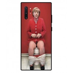Durable Angela Merkel On The Toilet Cover For Samsung Galaxy Note 10 Plus