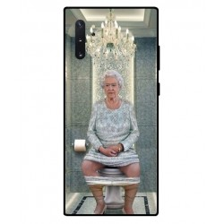 Durable Queen Elizabeth On The Toilet Cover For Samsung Galaxy Note 10 Plus
