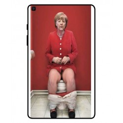 Durable Angela Merkel On The Toilet Cover For Samsung Galaxy Tab A 8.0 2019