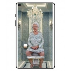 Durable Queen Elizabeth On The Toilet Cover For Samsung Galaxy Tab A 8.0 2019