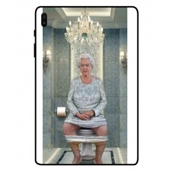 Durable Queen Elizabeth On The Toilet Cover For Samsung Galaxy Tab S6