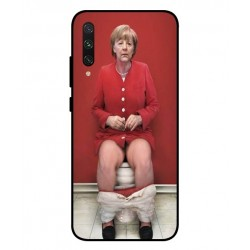 Durable Angela Merkel On The Toilet Cover For Xiaomi Mi A3