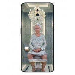 Durable Queen Elizabeth On The Toilet Cover For Oppo Reno