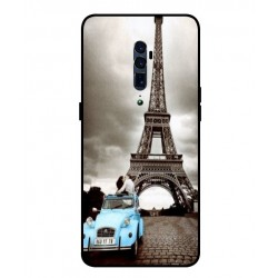 Durable Paris Eiffel Tower Cover For Oppo Reno 10x Zoom