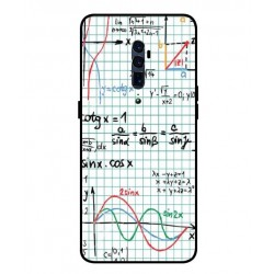 Durable Mathematics Cover For Oppo Reno 10x Zoom
