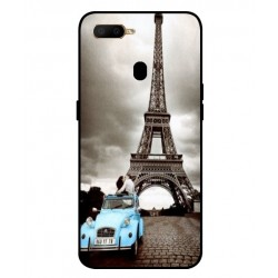 Durable Paris Eiffel Tower Cover For Oppo A5s