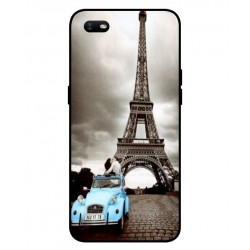 Durable Paris Eiffel Tower Cover For Oppo A1k