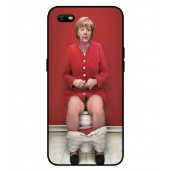 Durable Angela Merkel On The Toilet Cover For Oppo A1k