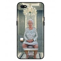 Durable Queen Elizabeth On The Toilet Cover For Oppo A1k