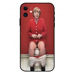 Angela Merkel På Toilettet Cover Til iPhone 11