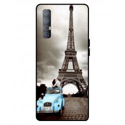 Durable Paris Eiffel Tower Cover For Oppo Reno 3 Pro