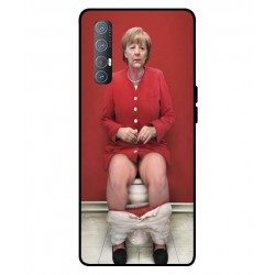 Durable Angela Merkel On The Toilet Cover For Oppo Reno 3 Pro