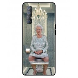 Durable Queen Elizabeth On The Toilet Cover For Oppo Reno 3 Pro