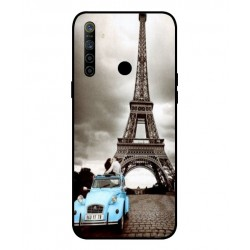 Durable Paris Eiffel Tower Cover For Oppo Realme 5i