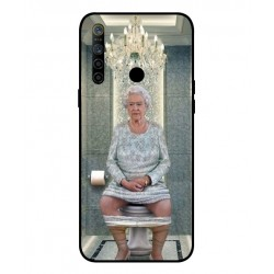 Durable Queen Elizabeth On The Toilet Cover For Oppo Realme 5i