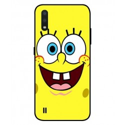 Durable SpongeBob Cover For Samsung Galaxy A01