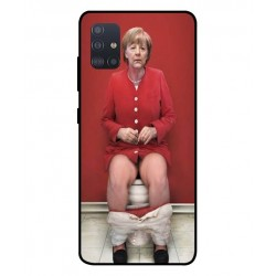 Durable Angela Merkel On The Toilet Cover For Samsung Galaxy A51