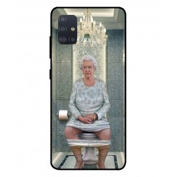 Durable Queen Elizabeth On The Toilet Cover For Samsung Galaxy A51